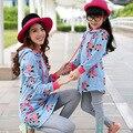 Толстовки + леггинсы семья одежда мать / мама и дочь соответствующие одежда семья стиль одежды устанавливает семья наряды BT19