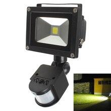 10 W PIR Kızılötesi Vücut Hareket Sensörü projektör Projektör spotlightAC 85 265 V IP65 Su Geçirmez Açık Peyzaj Ampul lambası