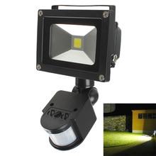 10 w pir infrarosso del corpo led motion sensor luce di inondazione del proiettore spotlightac 85 265 v ip65 impermeabile esterna di paesaggio lampada della lampadina