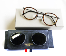 THOM BROWNE Eyeglasses Frames Or Sunglasses men women Optical Titanium prescription eyeglasses TB710 with clip and Original box