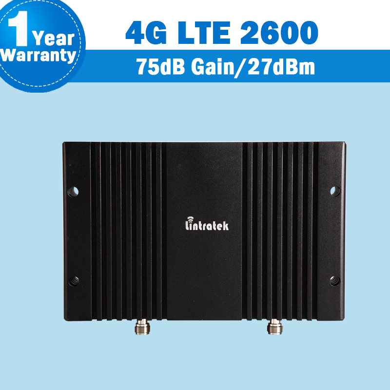 4G LTE 2600MHz 75dB high gain MGC AGC function mobile phone signal booster for office and home with LCD display