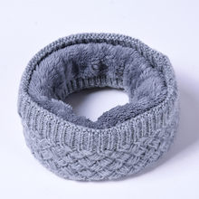 Unisex Men Women Winter Knitted Neck Scarf Fleece Warmer Neck Gaiter Tube Face Mask Beanie Thermal Warm Versatility AA10072(China)