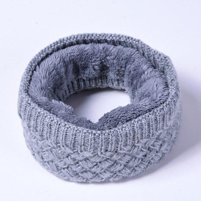 9b25c197d1 Unisex de las mujeres de los hombres de invierno de punto cuello de lana  bufanda caliente