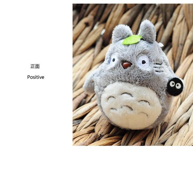 Mini my neighbor Blue totoro plush keychain toy 2016 New kawaii Japanese anime totoro umbrella stuffed plush cat doll key ring
