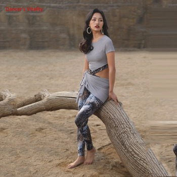 New Belly Dance Exercise Clothes for Spring 2019 Show Tight-fitting Pants Yoga M/L - discount item  22% OFF Stage & Dance Wear