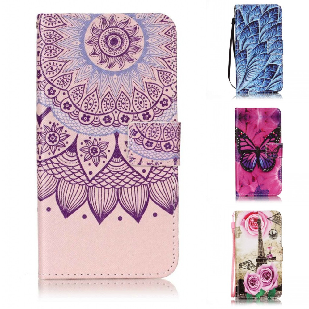 Fashion Chinese flower cartoon wallet with card PU Leather stand holder case cover for HTC Bolt HTC 10 Evo Case with pen