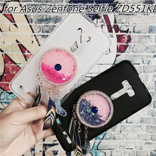 Newest Colorful Case Cover for Asus Zenfone Selfie ZD551KL Capa Fundas Dynamic Liquid Glitter Quicksand Soft TPU Jewelled(China)