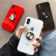 Telefoon Case Voor iPhone XR Case Silicone Cover Coque Case Voor iPhone XS Max 7 Plus 8 10 6 6 S Case Magnetische Houder Stand Luxe(China)