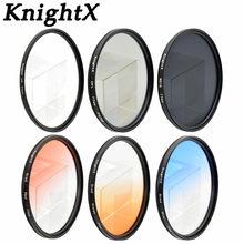 KnightX CPL Cámara filtro 52mm 58mm Multi-capa Ultra fino oro anillado  filtro UV para 7051de54333e