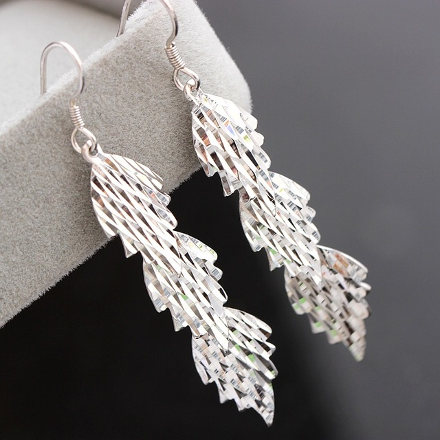 jewelry wholesale authentic S925 Sterling Silver Earrings hypoallergenic Korean long paragraph fringed Silver Earrings