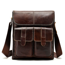 Genuine Leather Messenger Bag Men Shoulder Casual Male Briefcases Laptop Computer Bags for Documents