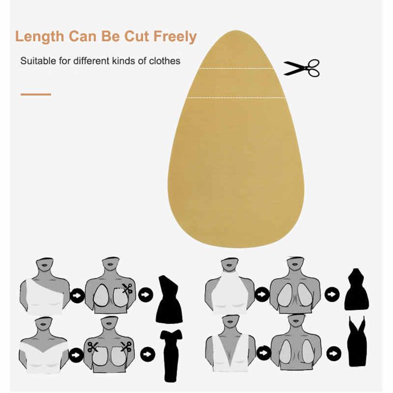 1 par de pegatinas de silicona Sexy Lencería autoadhesiva sin espalda sin costuras Push Up Invisible sujetadores mujeres pezón cubierta