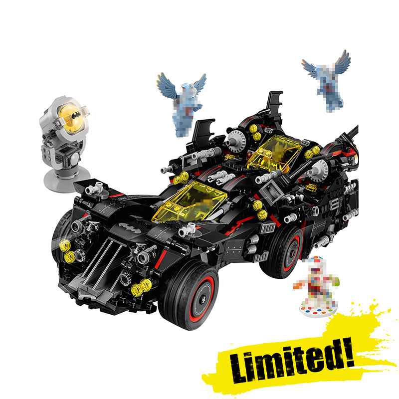 Lepin 07077 DC The Ultimate Batmobile Marvel Super Heroes Batman Building Blocks Bricks Toys DIY For Boys legoINGly 70917 8 in 1 military ship building blocks toys for boys