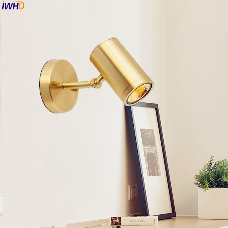 IWHD Nordic Copper LED Wall Lights For Home Lighting Living Room Golden LED Bathroom Mirror Light Wandlamp Wall Lamp Sconces IWHD Nordic Copper LED Wall Lights For Home Lighting Living Room Golden LED Bathroom Mirror Light Wandlamp Wall Lamp Sconces