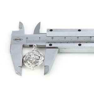 Image 5 - CLUCI colgante de plata de primera ley con forma de bola para mujer, joya para collar, plata esterlina 925, relicario de perlas, 3 uds., SC059SB
