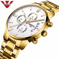 NIBOSI Men Watches Luxury Top Brand Men Gold Watch Relogio Masculino Military Army Analog Quartz Wristwatch
