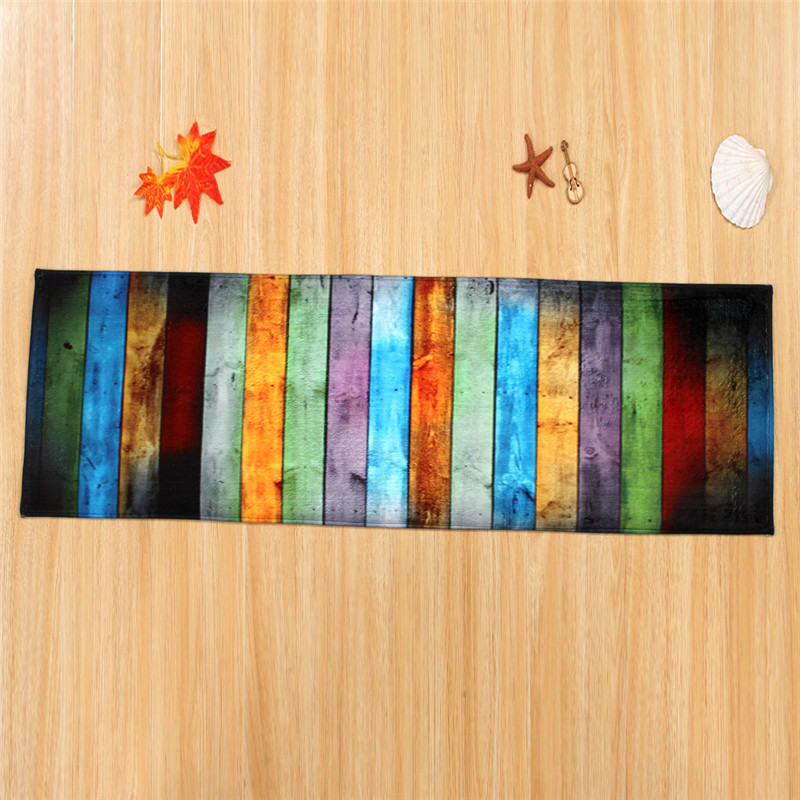 US $15.36 20% OFF|XYZLS Pastoral Retro Rectangular Striped Kitchen Rugs  Nonslip Floor Mats for Kitchen Living Room Bedrooms Doormats Throw Rugs-in  Mat ...