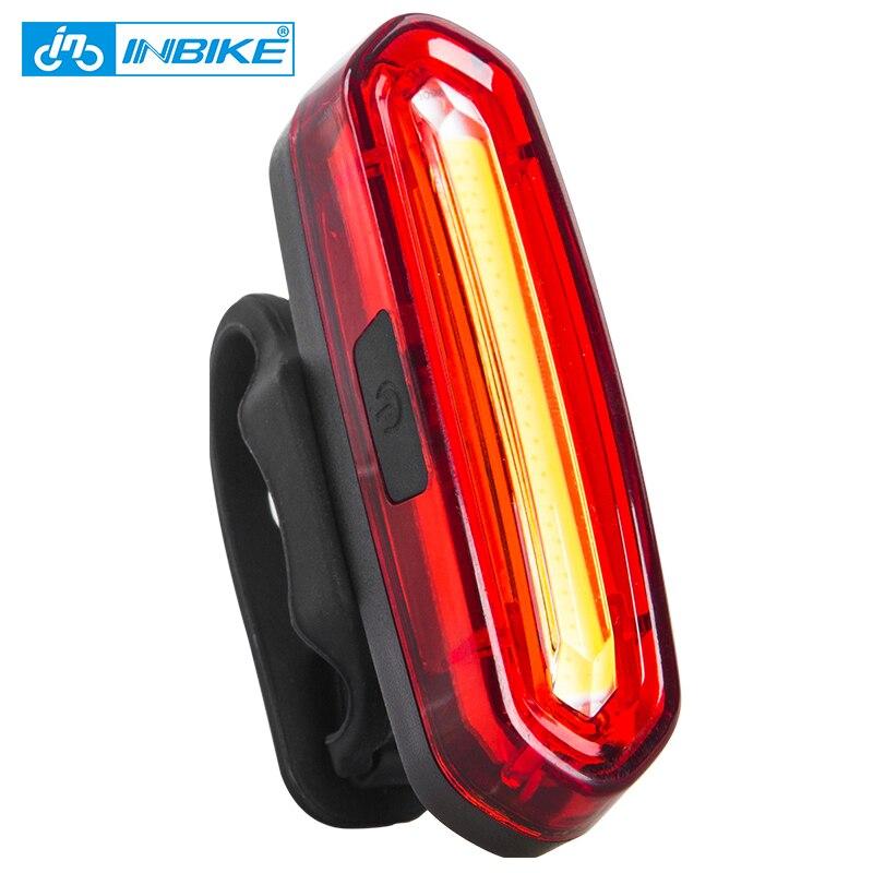 Inbike bicicleta luz Bicicletas trasera Accesorios bisiklet aksesuar impermeable Riding luz trasera LED USB recargable MTB bicicleta