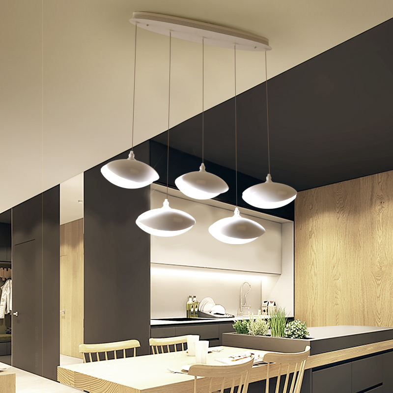Modern led Pendant Light for Kitchen Dining Room Living Room Suspension luminaire Hanging White Black Bedroom Pendant Lamp avize 1 light simple modern cloth matal led pendant light for bedroom dining room living room bulb included white black gold silver