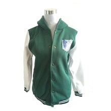 Anime Shingeki No Kyojin Cosplay Costume green hooded Long sleeve fashion casual hoodies sweatshirt Attack On Titan Jacket