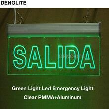 10pcslot luz de emergencia led ac110220v led exit sign light luz de la muestra de la salida llevada pmma led emergency lights