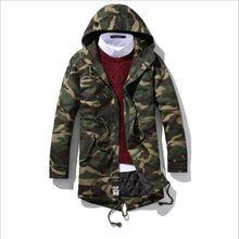 5XL large size male jacket winter leisure parkas winter long coat jacket green jacket men plus cotton warm fashion camouflage st