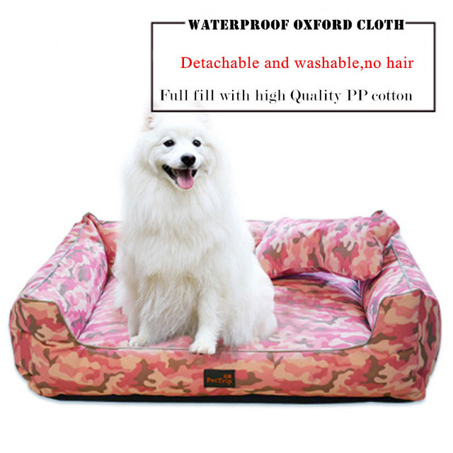 Waterproof Rectangular Oxford Cloth  Large Dog Bed