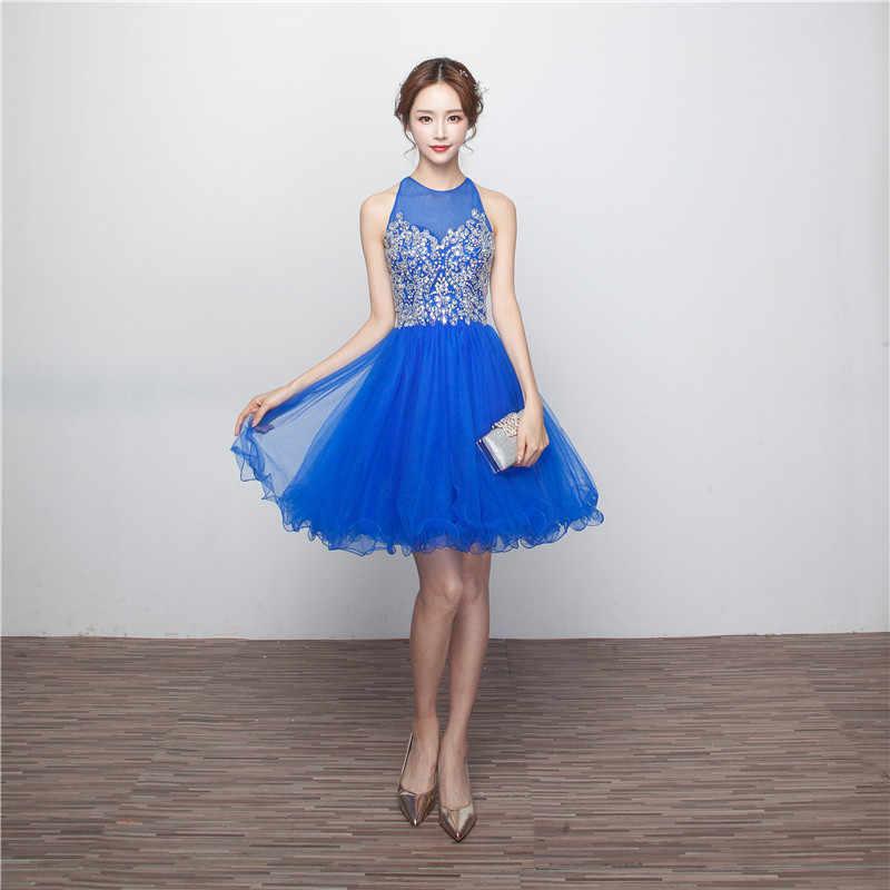 2020 Vestidos Hermosos Para Adolescentes Vestido De 15 Anos Curto Azul Vestidos Cortos De Regreso A Casa Vestidos Baratos De Graduación