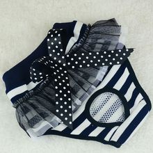 Pet Dog Cloth Diapers Physical Pants Dog Bowknot Physiological Sanitary Bow Short Pants Underwear
