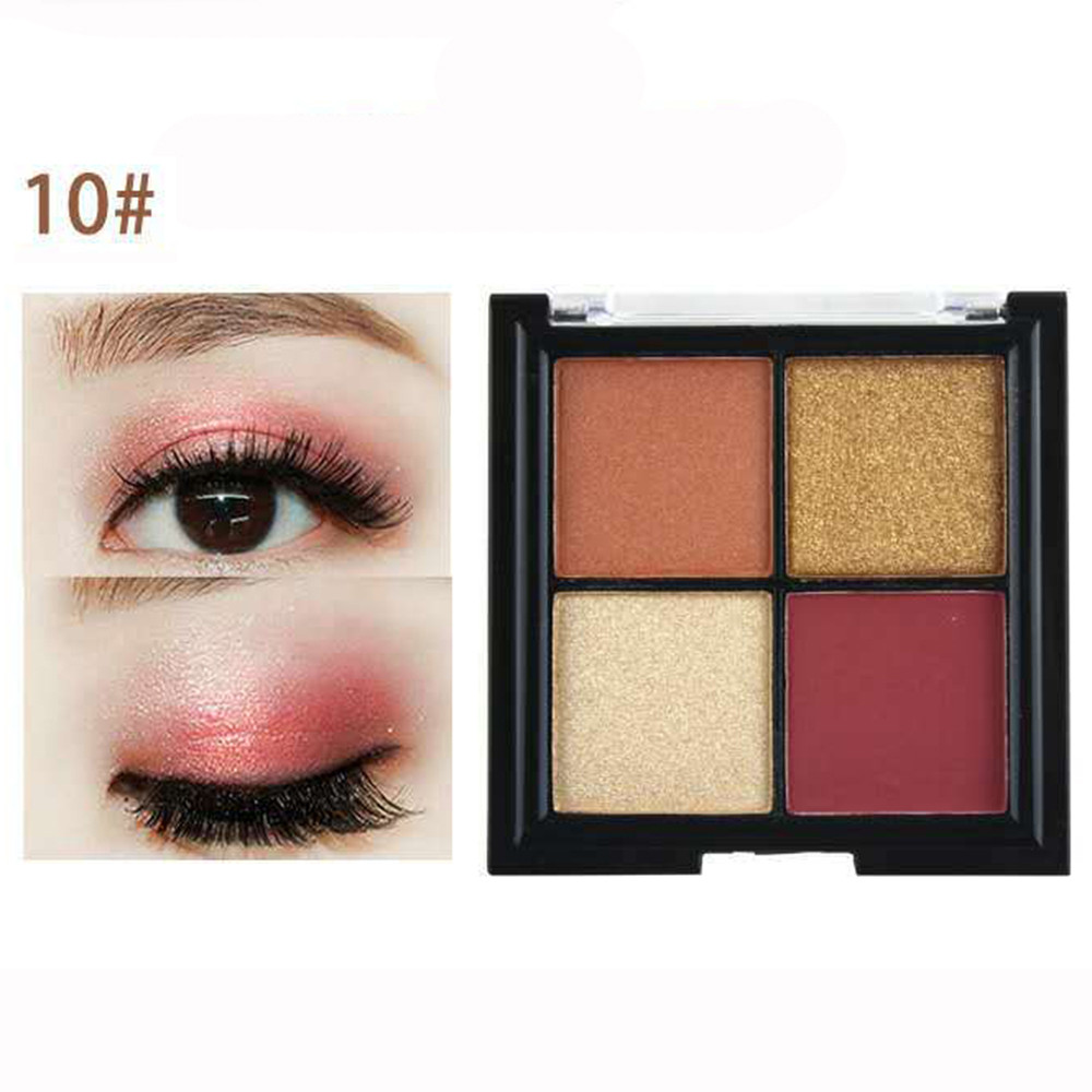 Glorious Cosmetics Led 4 Colors Cosmetic Powder Smoky Eyeshadow Palette Makeup Set Matt Available Nude Makeup Smoky Makeup #yl5 Highly Polished Eye Shadow Beauty Essentials