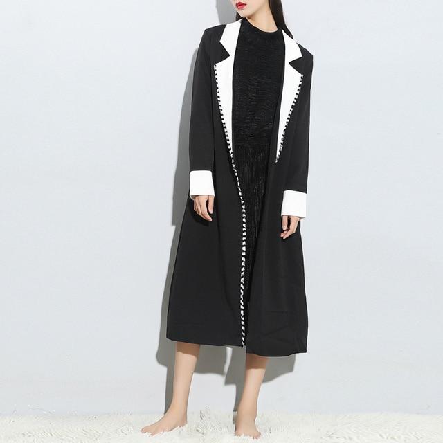 Женщины Плащ кардиган sobretudo feminino лонго черное пальто девушка траншеи mont баян abrigos mujer манто femme пальто