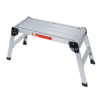 775MM Aluminium Platform Work Bench Folding Step Ladder EN131 CE 150Kg Hop UP