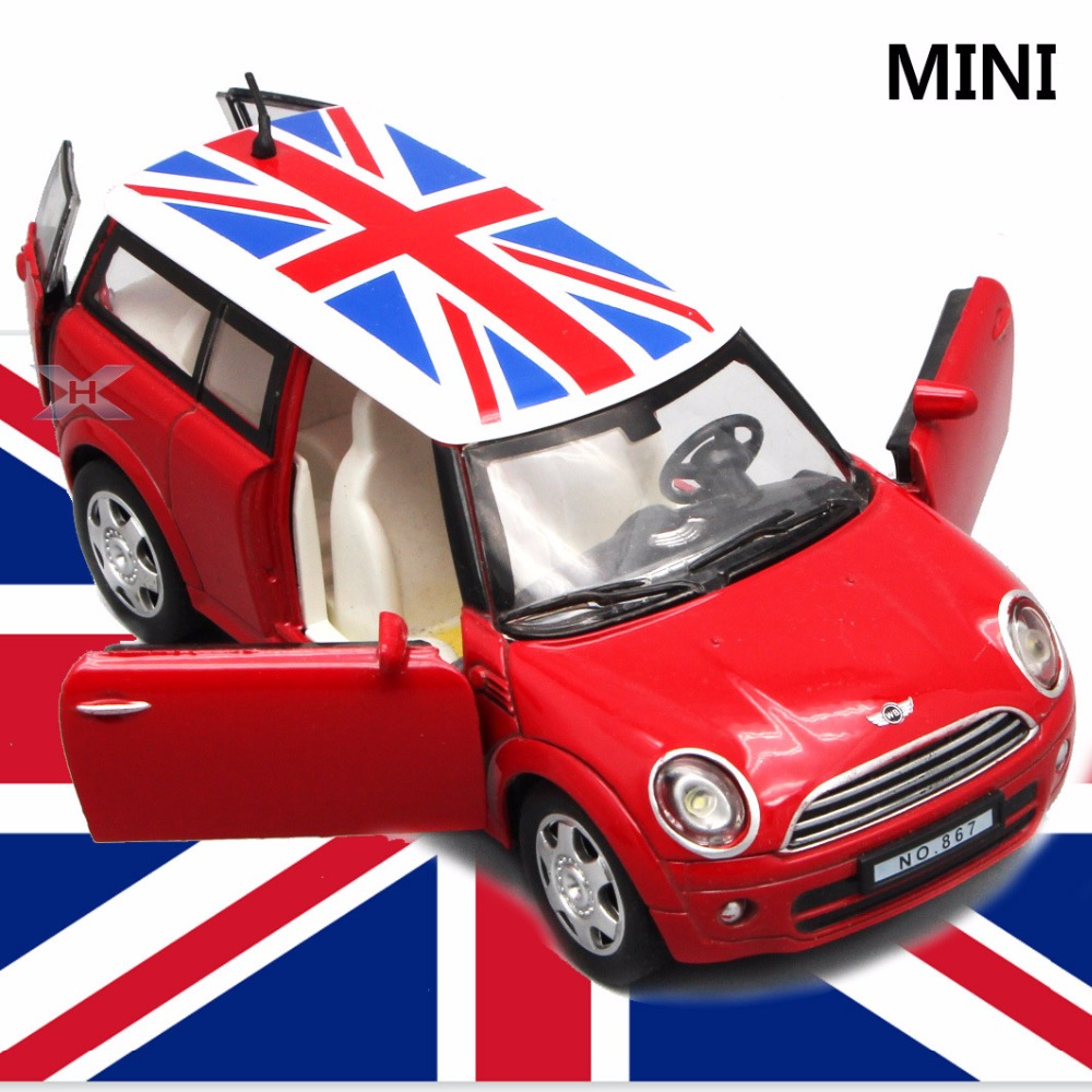 132 diecast mini cooper model car kids toys metal cars toys with pull back