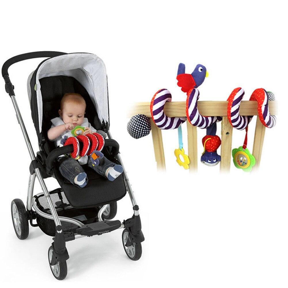 Маленьких спираль cot активности висит музыкальные игрушки играют для Автокресло/коляски кукла x # FastShipping