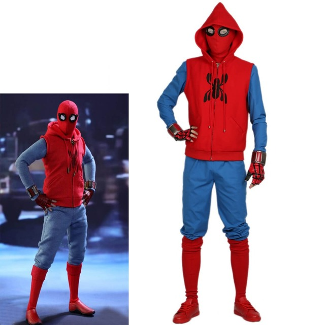 xcoser new spider man homemade suit superhero movie spiderman homecoming cosplay outfits halloween costume for men adult