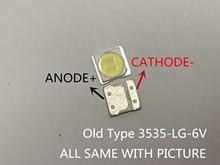 LG SMD LED 이전 유형에 대 한 LG led 10PCS 3535 6V 냉 백색 칩 2 2W TV/LCD 백라이트 TV 응용 프로그램에 대 한 Orginal 3535 6v