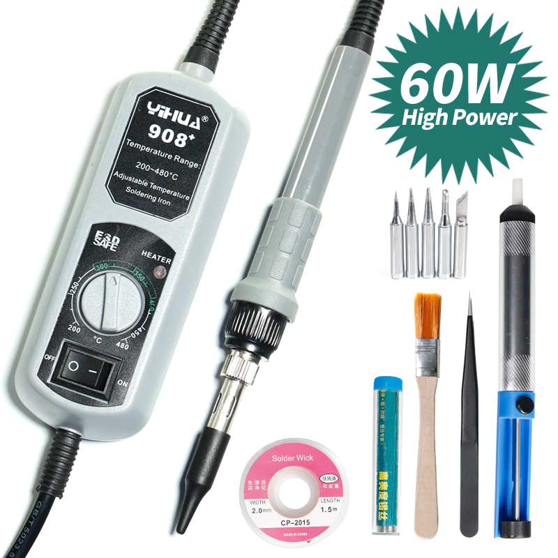 YIHUA 908+ Constant Electric Soldering Iron Large Power Adjustable Soldering Iron Kit