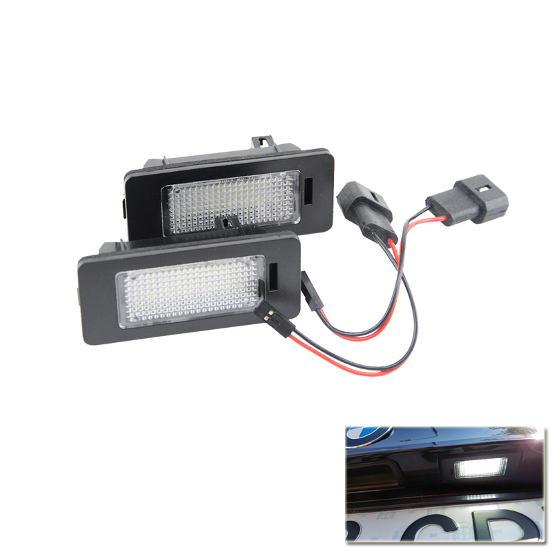 2PCs/Pair 24-SMD Error Free Led Number License Plate Lamps Light For Bmw 1 2 3 4 5 Series X3 X4 X5 X6 E70 E46 M3 Plug&Play 12V 2 x led number license plate lamps obc error free 24 led for bmw e39 e80 e82 e90 e91 e92 e60 e61 e70 e71