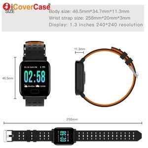 Image 2 - Inteligentne nadgarstek dla Samsung Galaxy J4 J6 J8 J3 J5 J7 2017 A3 A5 A7 A6 A8 + A9 2018 ciśnienie krwi wodoodporna inteligentny bransoletka do zegarka
