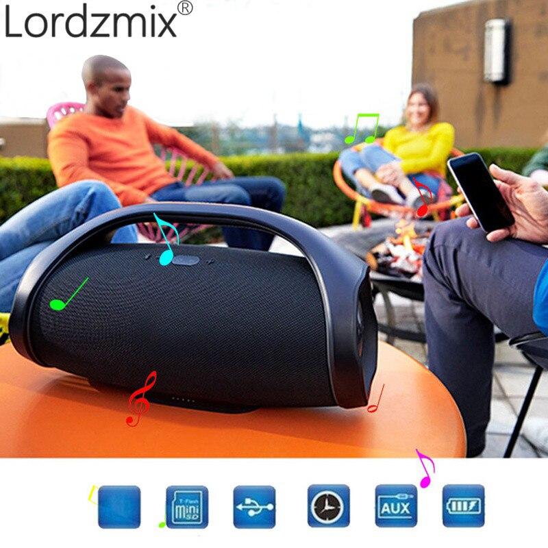 Wireless Bluetooth Speaker Portable Boom Box Outdoor Bass Column loudSpeaker Subwoofer Sound Box with FM Radio TF Mp3 Player