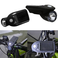 Rechargeable New 1 LED Bicycle Solar Headlight Front Head Light Super Bright Lamp Outdoor Cycling Camping