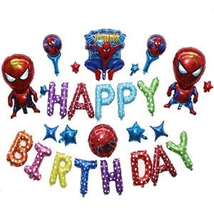 Image 5 - 85pcs/lot Superhero Avengers Kids Birthday Party Decorations Ironman Spiderman Helium Foil Balloons Babyshower Kids Toys Gift