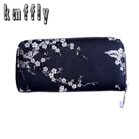 Woman Wallet For Cards Coins Vintage Purse Silk Flower Wallet Print Women Luxury Brand Wallet Female