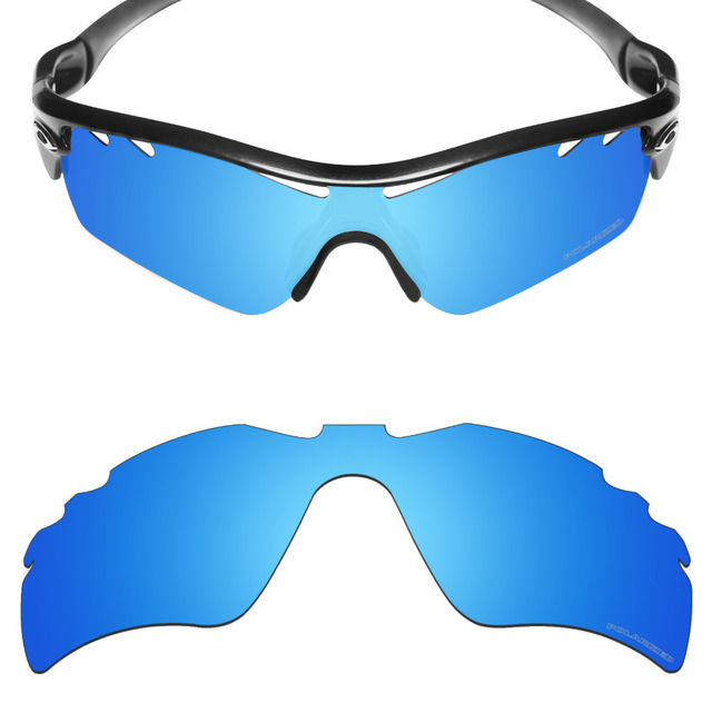 84b0f58e2a67 Mryok+ POLARIZED Resist SeaWater Replacement Lenses for Oakley Radar Path  Vented Sunglasses Ice Blue