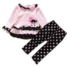 Hiver Bébé Filles Vêtements Nouveau-Né Vêtements Ensemble Oiseaux Imprimer Haut + Pantalon 2 pcs Costume Coton Automne Infantile Vêtements Bébé Cothing Ensemble