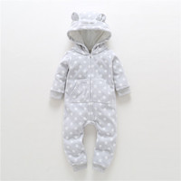 2017 Autumn Winter Baby Clothes Boy Baby Overalls Wool Newborn Clothes One Piece Romper Baby Girl