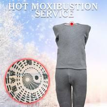 Roupa Interior térmica shapewear Deusa lady cinza quente grosso cueca terapia magnética moxabustão quente confortável conjunto