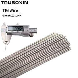 0.5 كجم ماكينة لحام بغاز التنجستين الخامل اكسسورات 0.8 مللي متر 1.0 مللي متر 1.2 مللي متر الفولاذ المقاوم للصدأ TIG سلك لحام/أقطاب لحام