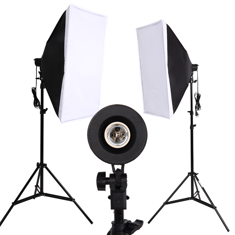 Photo Studio Softbox Set Continuous Lighting Photo lighting Accessories Kit 2 light stand 2LED 2Softbox for Camera Photo