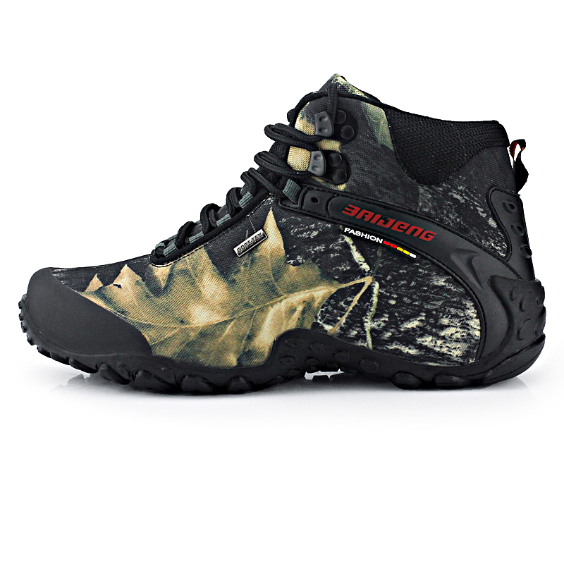 The new waterproof canvas hiking shoes Anti-skid Wear resistant breathable fishing camping climbing rubber sole shoes High TopThe new waterproof canvas hiking shoes Anti-skid Wear resistant breathable fishing camping climbing rubber sole shoes High Top